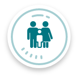 Parents and child icon