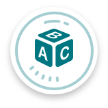 A-B-C block icon, school-based services